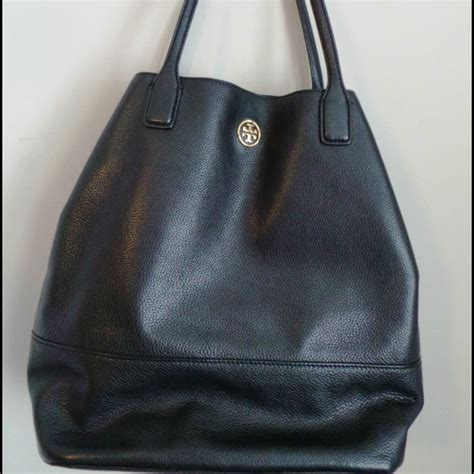 49 burch handbags authentic burch black pebbled tote from julie s