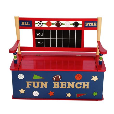 toy bench all star sports toy box bench by levels of discovery