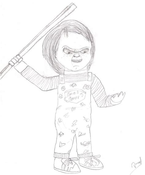 Chucky The Killer Doll By Nazo0202 On Deviantart Chucky Doll Coloring Pages