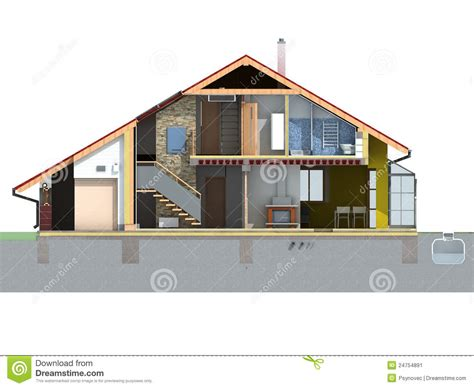 Web Based 3d Home Design Front House Section Stock Image Image 24754891