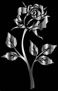 Photos Of Rose Flower - clipart stainless steel rose silhouette