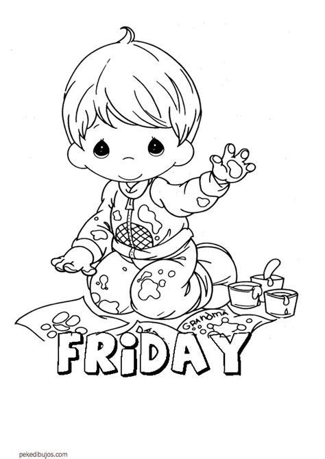dibujos infantiles ingles dibujos de los d 237 as de la semana en ingl 233 s para colorear