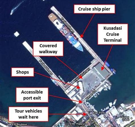 kusadasi port map kusadasi cruise port disabled access review by