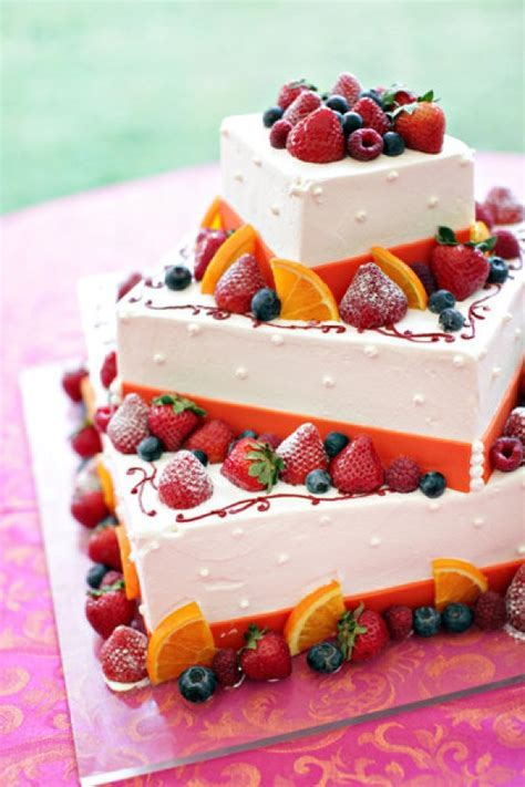 Fruit decorated wedding cake   food   Pinterest