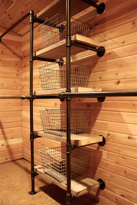 Cedar Paneling For Closets by My Sweet Savannah Industrial Pipe Closet System