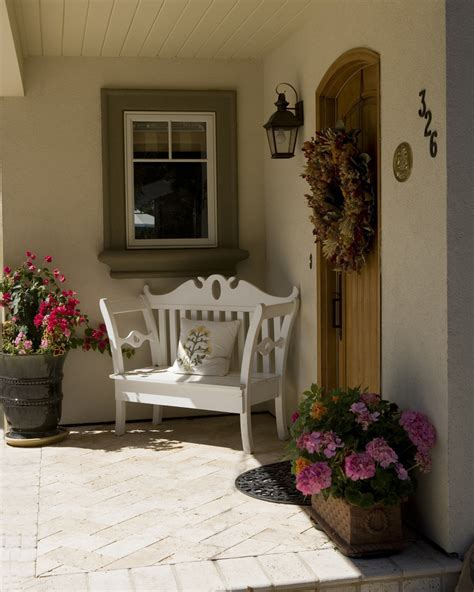 front entrance bench ideas front porch ideas exterior farmhouse with exposed rafters