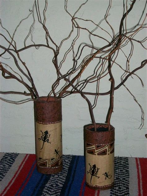 floreros tubos de carton tubos 233 tnicos con ramas de sauce arte tubos de cart 243 n