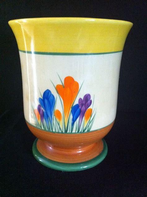 Clarice Cliff Vase Shapes by Autumn Crocus Large Shape 353 Vase Clarice Cliff