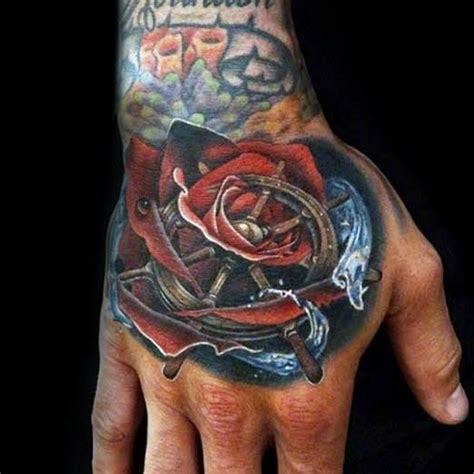 ship and rose tattoo 25 trending ship wheel ideas on anchor