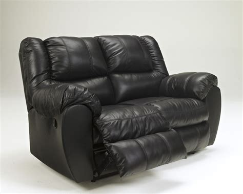 black reclining loveseat 9230187 ashley furniture signature design mcadams black
