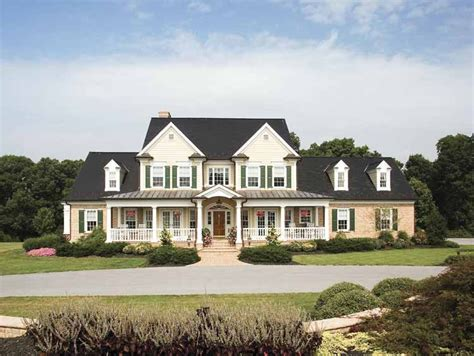 large farmhouse plans home plan homepw07287 3163 square foot 4 bedroom 3