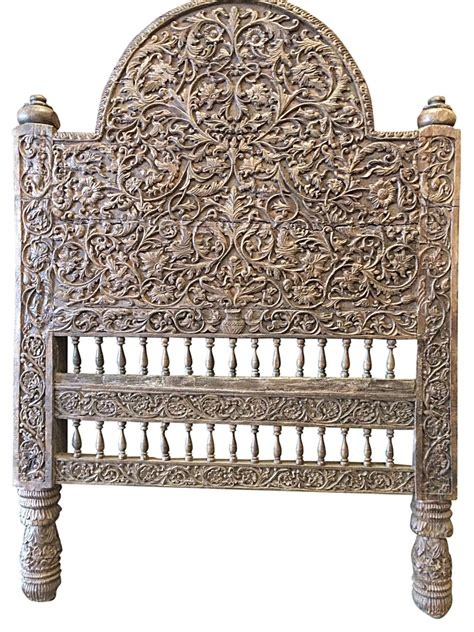 Antique Bed Headboard by Antique Indian Headboard Wood Bed Frame Jaipur Beautiful