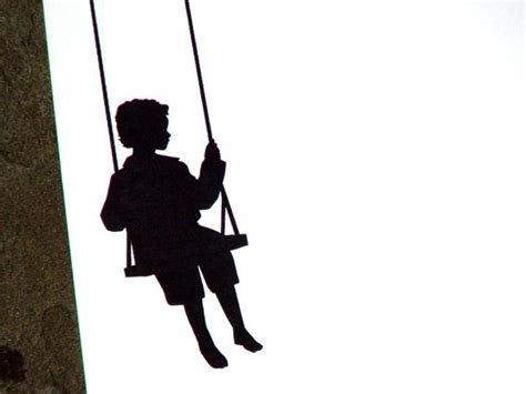 silhouette swing items similar to personalized stationery little boy