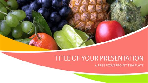 Fruits Powerpoint Template Presentationgo Com Free Nutrition Powerpoint Templates