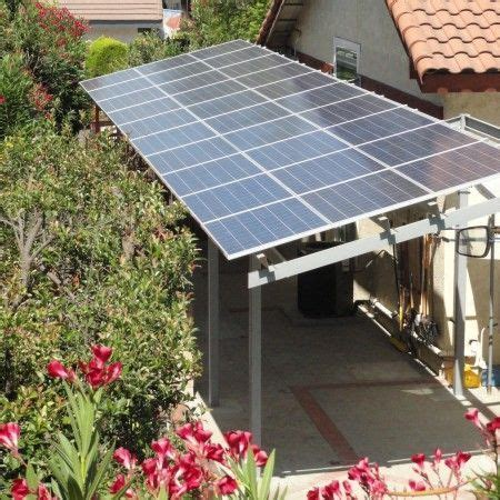 Solar panels provide a shady patio area. If you don't have