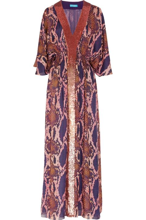 Matthew Williamson Lotus Chiffon Dress by 10 Best Images About Matthew Williamson On