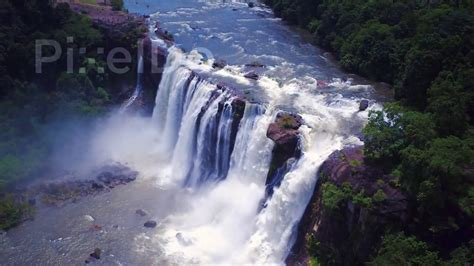 athirappilly falls kerala drone stock video youtube