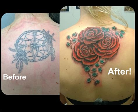 feminine rose tattoos feminine coverup by steve malley tattoonow