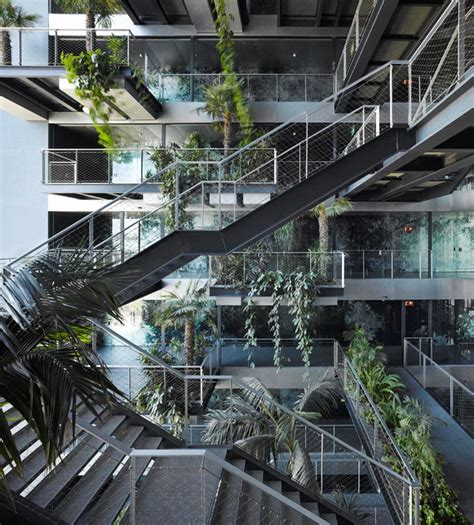 Plant Layout Of Hotel | leaf shaped windows and vertical gardens at the