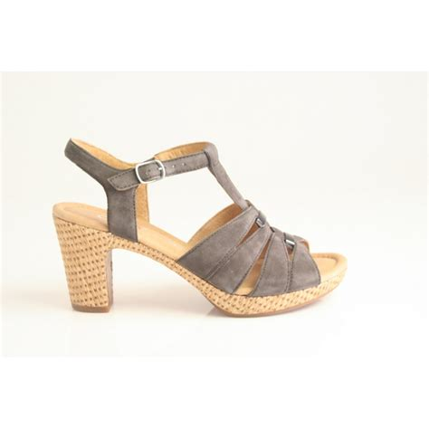 gabor sandals gabor gabor style quot mornie quot heeled sandal in zinn grey