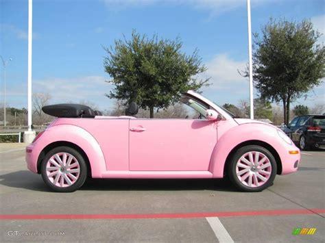 pink convertible cars 2009 custom pink volkswagen new beetle 2 5 convertible