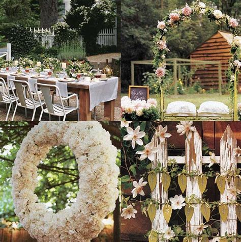 Backyard Garden Wedding Ideas Wedding Decoration Outdoor Backyard Wedding Decoration Ideas