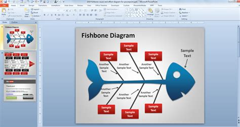 Fishbone Cause And Effect Diagram For Powerpoint Fishbone Diagram Template Powerpoint Free