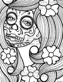 day of the dead coloring book day of the dead flash digital by neverdieart
