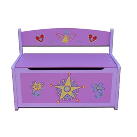 princess toy chest bench childrens purple fairy princess toy box bench seat
