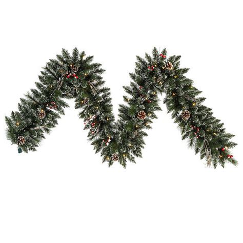 vickerman b106313 9 ft pvc christmas garland frosted