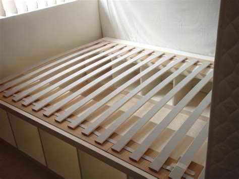 diy ikea bed expedit re purposed as bed frame for maximum storage ikea hackers ikea hackers