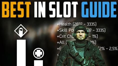 best in slot the division patch 1 6 best in slot gear guide how to