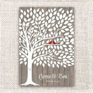 tree guest book wedding guest book tree on wood background guest book poster with 175 leaves pinpoint