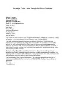 paralegal cover letter letter of recommendation