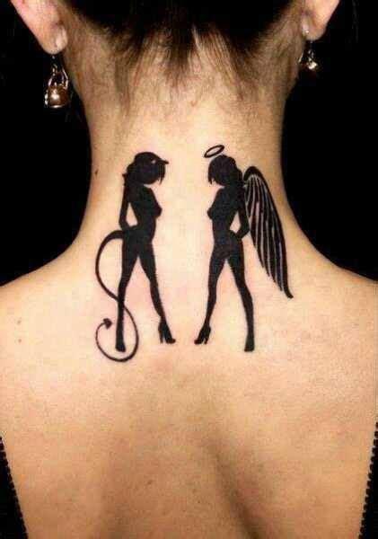 tattoo girl angel devil tattoos askideas com