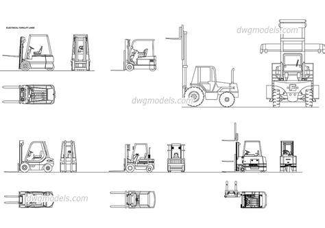 Forklift Cad Drawing forklifts dwg free cad blocks