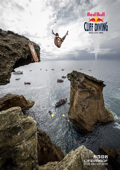 bull cliff dive the bull cliff diving world series 2016 by bull