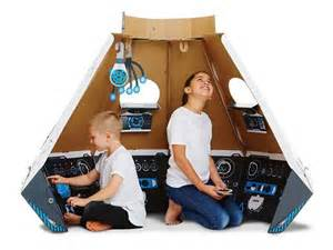 Vintage Interior Design Space Pod Cardboard Construction Set Lets You Land Mars In