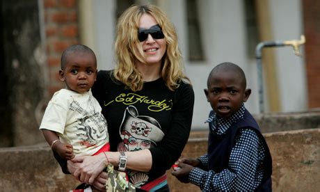 Madonna And Adopted David by When Adopt Children From Faraway Lands The