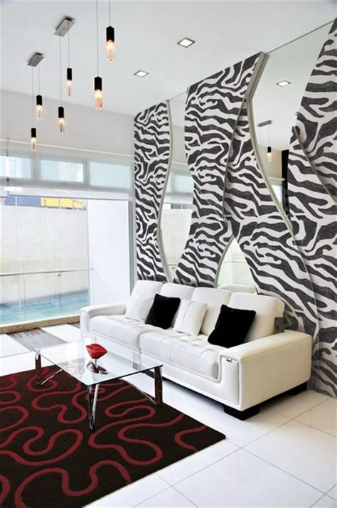 arredamento zebrato pittura decorativa all acqua ad effetto tessuto zebra