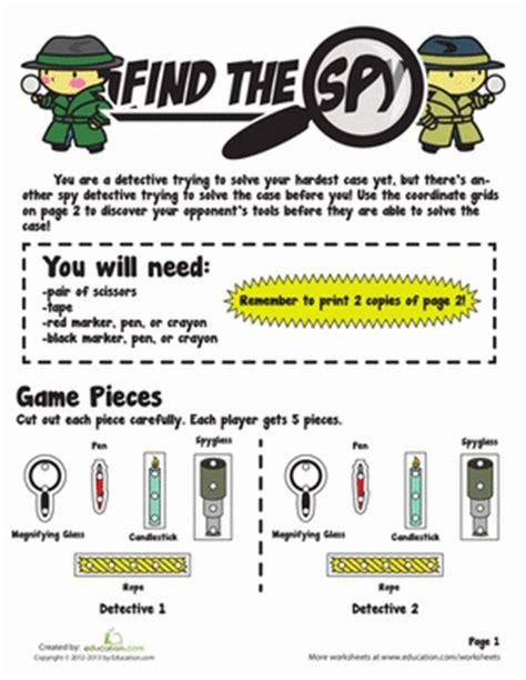 printable detective games 4th grade printable board games worksheets free