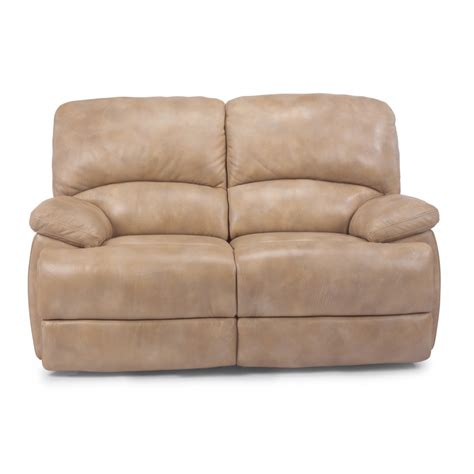 leather loveseat with chaise flexsteel 1127 600 dylan leather chaise reclining loveseat