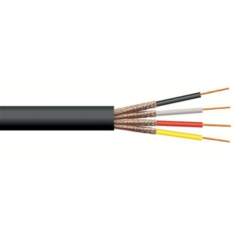 kabel microfon 4 mter signaal kabel 4 aderig rond individueel afgeschermd 4 mm