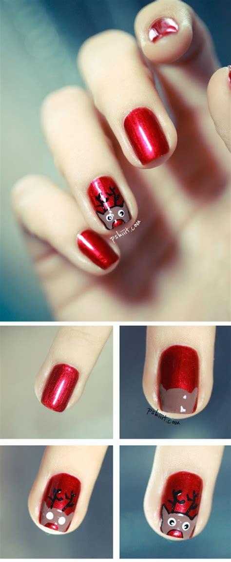 xmas nail art tutorial 16 creative and easy diy christmas nail art ideas and