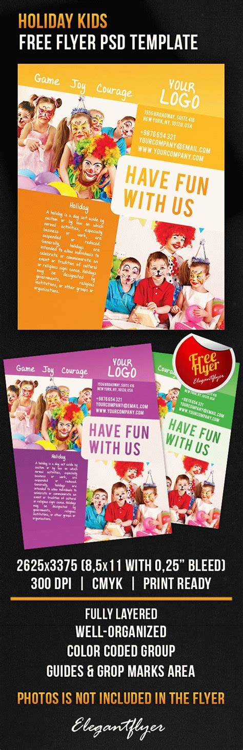 Free Holiday Kids Free Flyer Psd Template Photoshop Flyer Template Flyershitter Com Free Caign Flyer Template