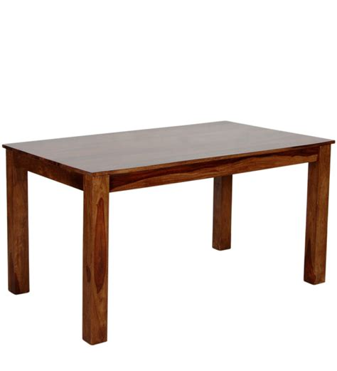 Melamine Dining Table Athena Four Seater Dining Table In Provincial Teak With Melamine Finish By Woodsworth By