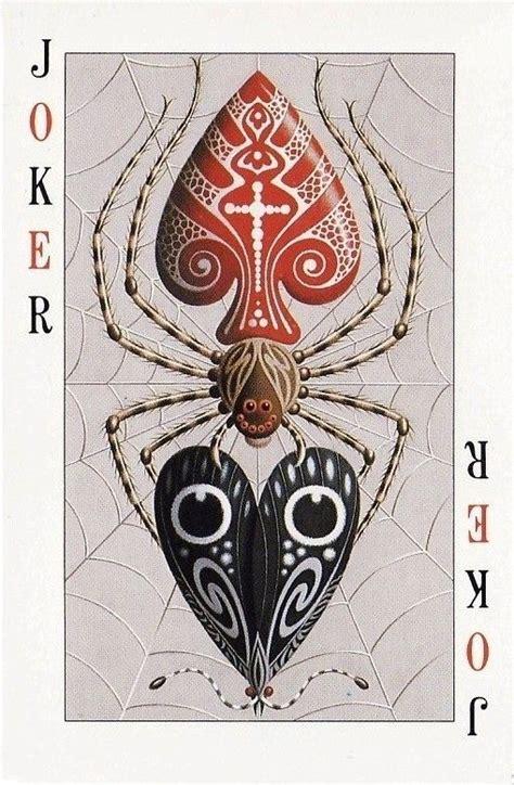 deck of joker cards cards deck of cards joker spider web spades
