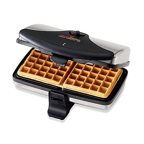 waffle maker bed bath and beyond chef schoice 174 classic wafflepro www bedbathandbeyond com