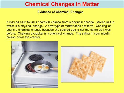 cooking with chagne changes in matter 5th grade physical science ppt video online download