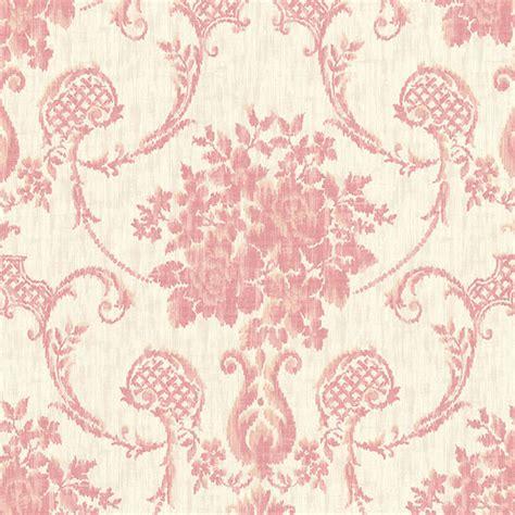 red damask wallpaper home decor 2614 21027 pink ikat damask marais beacon house home